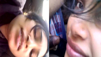 Desi aunty sucking cock in car wid hindi audio