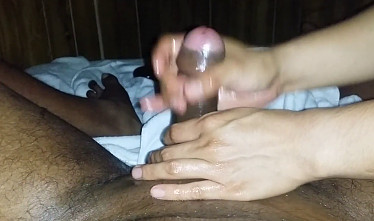 Indian oil massage to cum