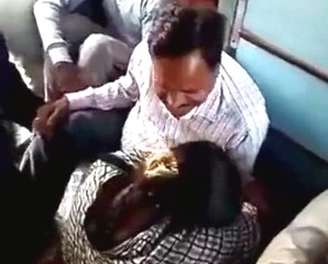 tharki mature uncle pressing boobs in crowded train