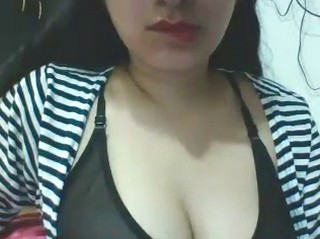 sexy desi girl on cam with sexy lingrie teasing