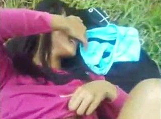 Hot Pinay lovers outdoor in park