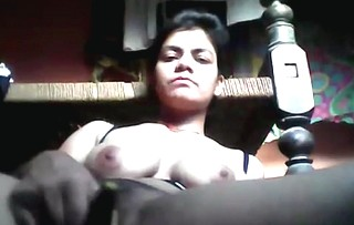 beautifull girl shows boobs and fingering with cucumber