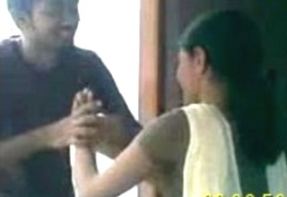 Desi Teen Boy Trying to Zabardasti with His Girl Friend infront to Friend on Her B'Day at her Home