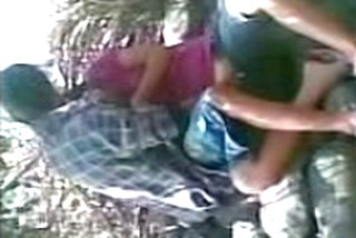 Couple Caught by Forest Man While Having Sex