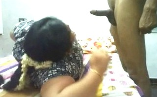 Desi mature Bhabhi playfully playing with young devars hard dick