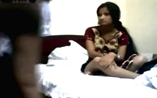 Indian young married honeymoon couple fucking caught on tape