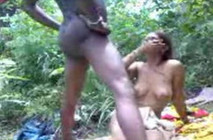 Desi whore fucked in  jungle