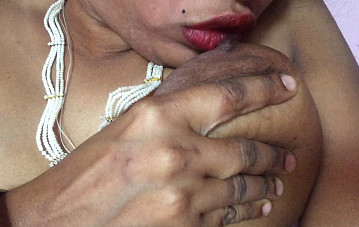 Aunty Showing and Sucking Her Own Breast hungry sex