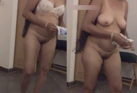 Desi Aunty strip For Shower