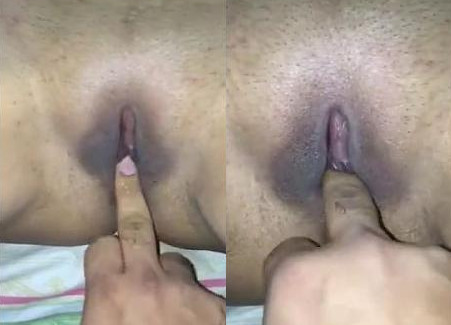 Desi wife clean shaved tight pussy fingering by hubby