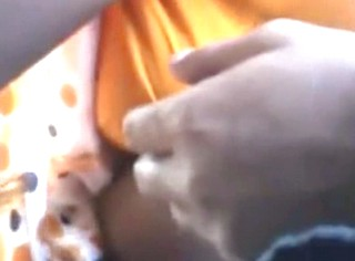 superhot daringbaaz DESI guy touching random babhi boobs in bus and she likes it