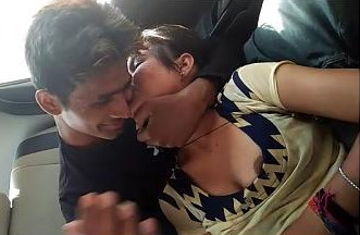 Cute Indian Lovers in car