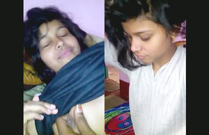 Cute desi gf showing her assets to bf