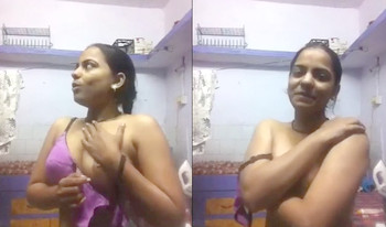 Indian Girl Changing dress For Her BF