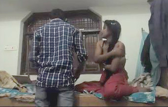 Cute Indian Lovers Romance  in room