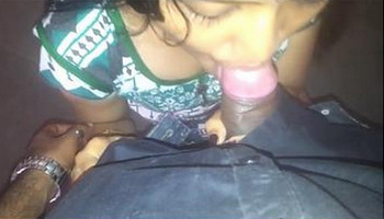 Sexy Indian babe Blowjob and boob pressing