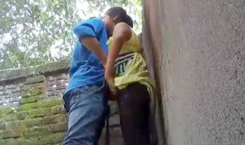Indian Collage Couple having fun outdoor