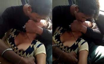 Hot indian couple romance in car
