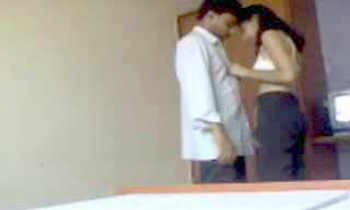 Indian College foreplay in room