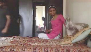 Indian girl hard fucked by lover on webcam