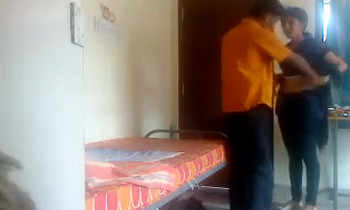 Indian BF sets hidden cam in room for quick fuck with GF