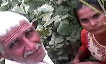 Desi grandpa outdoor fucking caught
