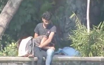Indian couple outdoor public BJ and fingered in broad daylight while people watching