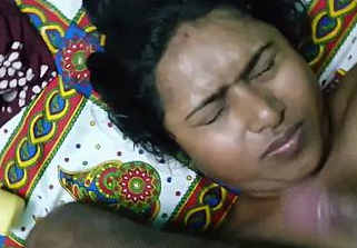 hubby cum on his bengali wifes face after the fucking