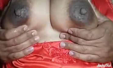 desi girl showing and licking her big boobs