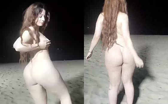 Nadia Ali New Video on Night Beach Dancing