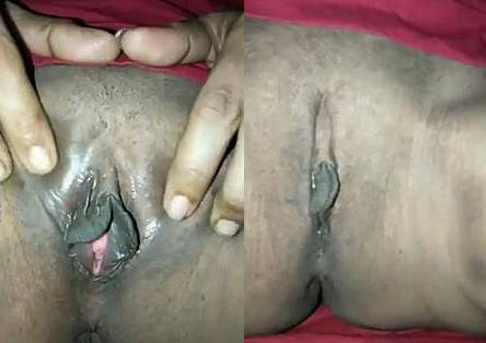 Indian wife fingering and rubbing her juicy pussy