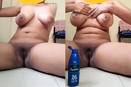 Desi gf massaging boobs and Fingering