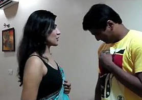 female domination-making him gulam,slapping licking face hitting with stick hindi aud