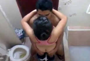 couple fucking in bathroom