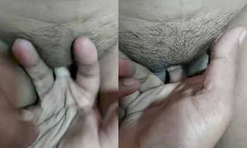 Desi Guy Fingering Girlfriends Wet Pussy and She Moaning