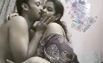 Desi Chubby wife watching TV recorded having fun