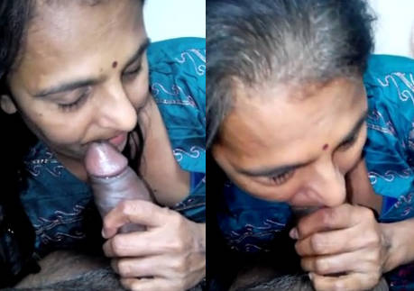 Desi aunty giving blowjob to neighbour uncel