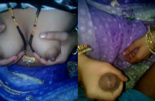 desi village wife showing boobs hand job hubbys cock