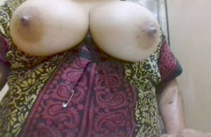 desi mom self records her boob press for her bf son gets this video from her mobile