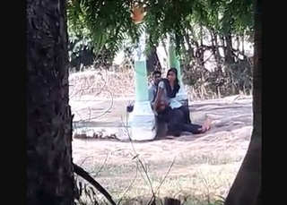 Desi lover caught outdoor