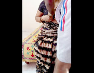 Desi village aunty fucking with son