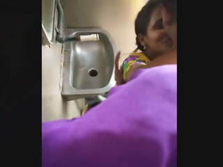 Couple fucking inside toilet of train secretly recorded by co-passangers part 1