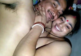 Desi Couple Happy At Night