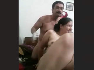 Horny couple full blowjob and romance
