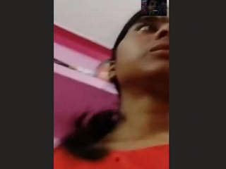 Desi College Gf Strip and Fingering On Video Call 1