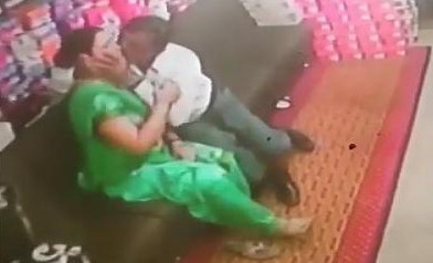 Desi tharki uncle forcefully smootch aunty in shoe shop
