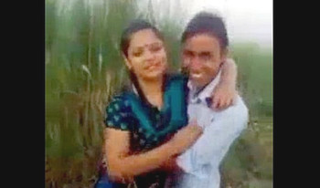 Indian desi college student kissing outdoor mms