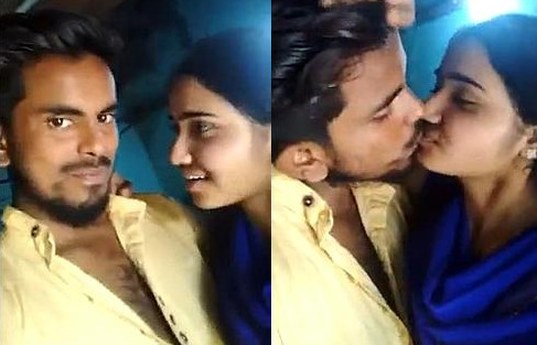 Indian Lover Kising Selfie