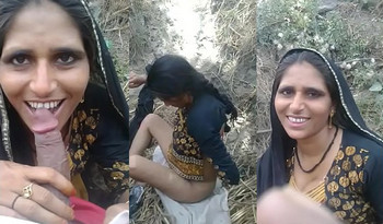 Desi village bhabi outdoor suck her devar dick i