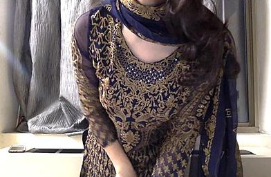 Undressing her Salwar Kameez & showing Boobs, Pussy, Ass everything